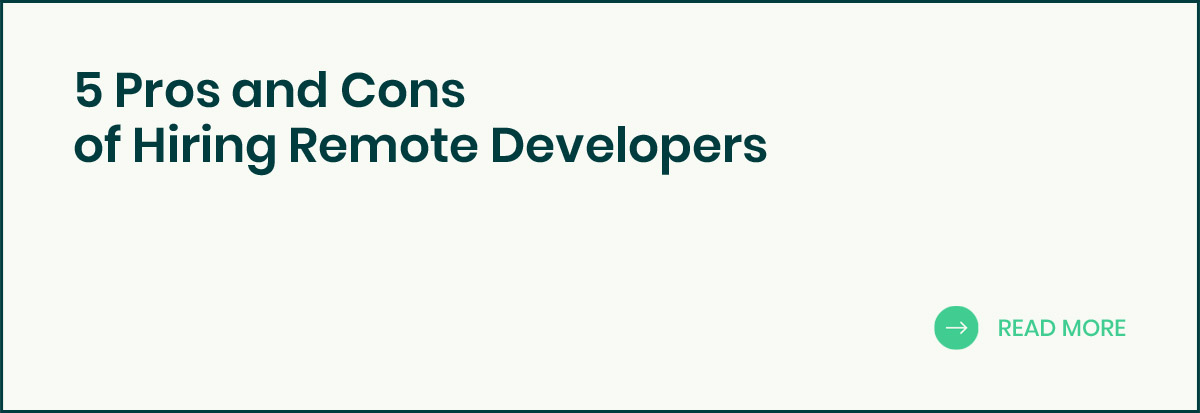 Pros and Cons of Hiring Remote Developers banner