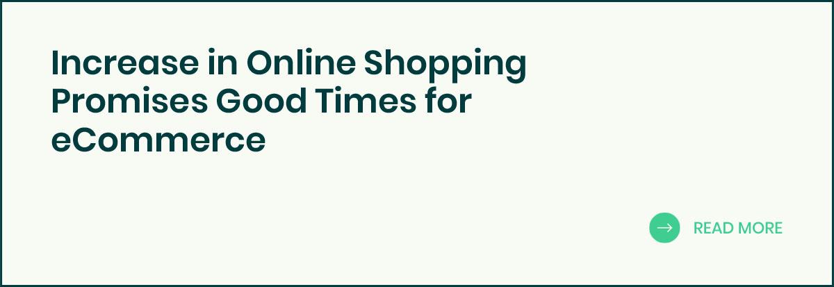 Increase in Online Shopping banner