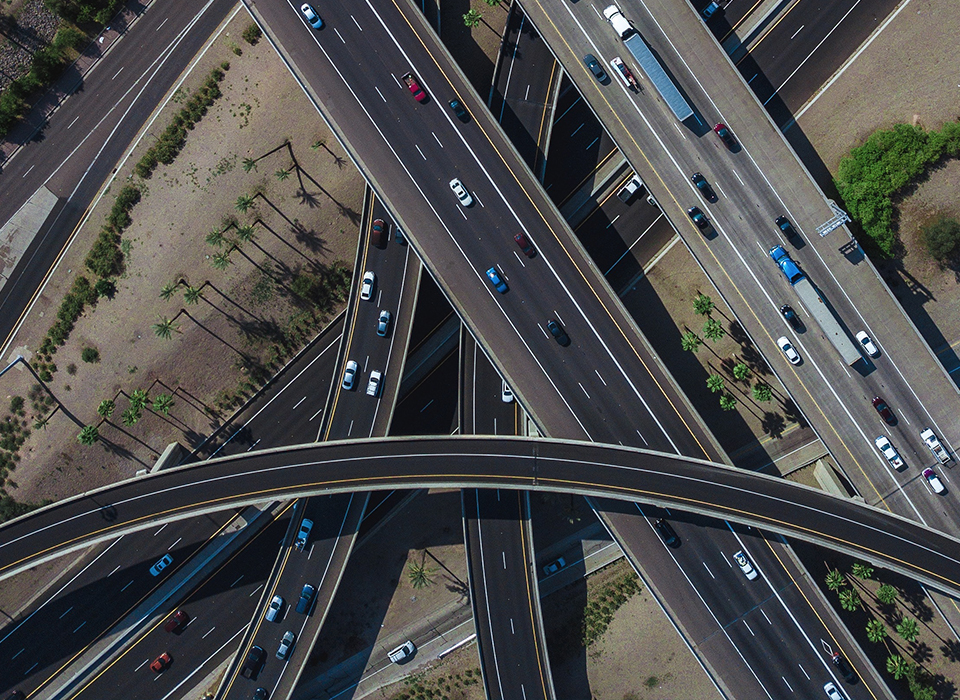 Multiple highways intersection