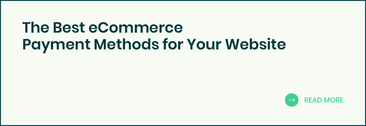 eCommerce Payment Methods banner