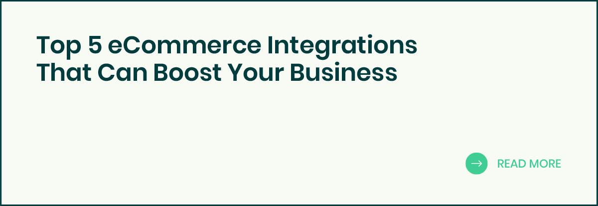Top 5 eCommerce Integrations banner