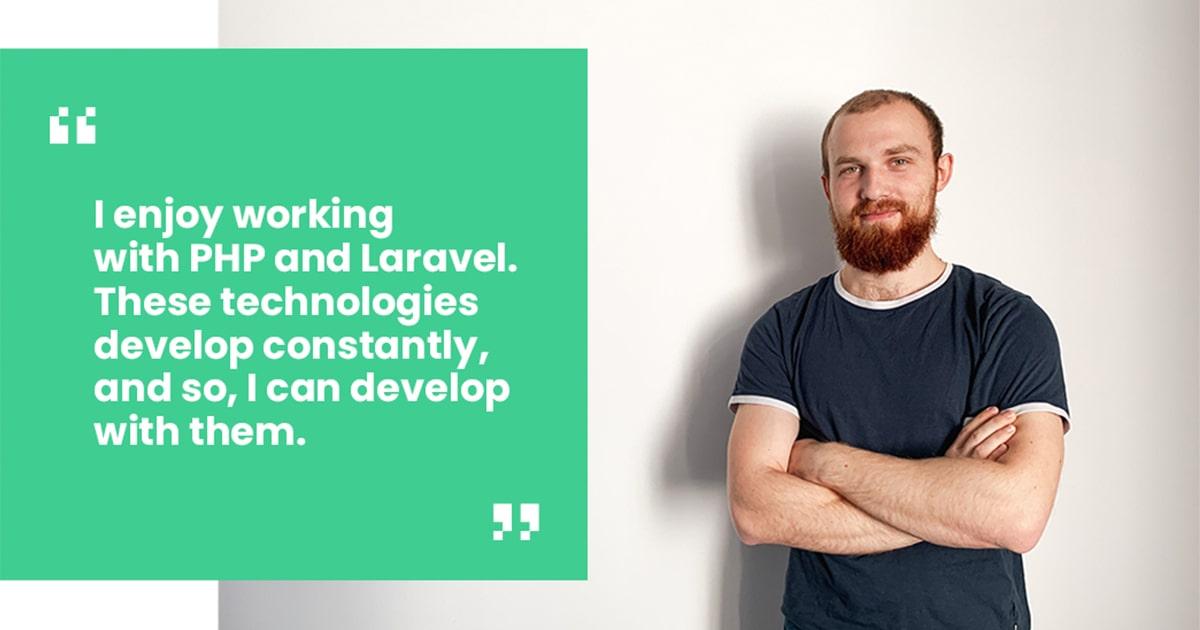 Andrii Kuzio Laravel certified developer quote