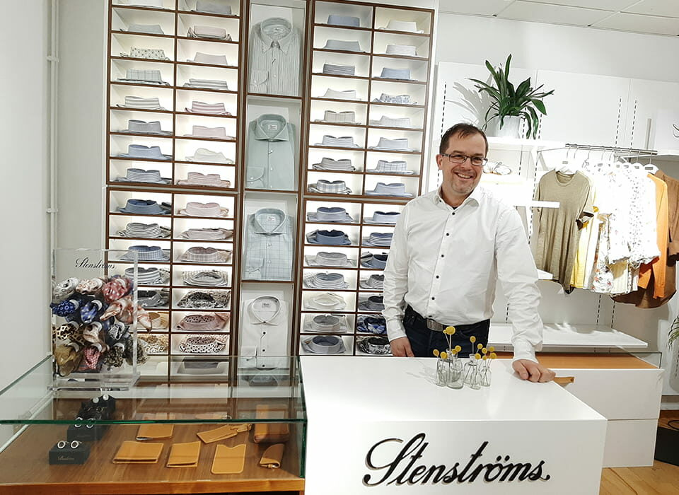 Frederick Nelson in Stenstroms shop