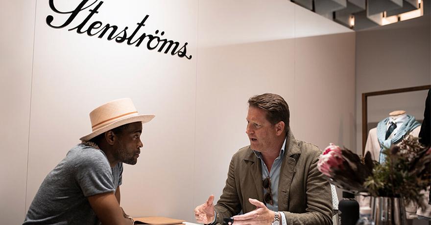 Men talking in Stenstroms shop