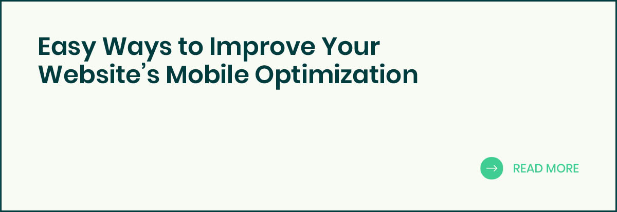 Ways to Improve Your Website's Mobile Optimization banner