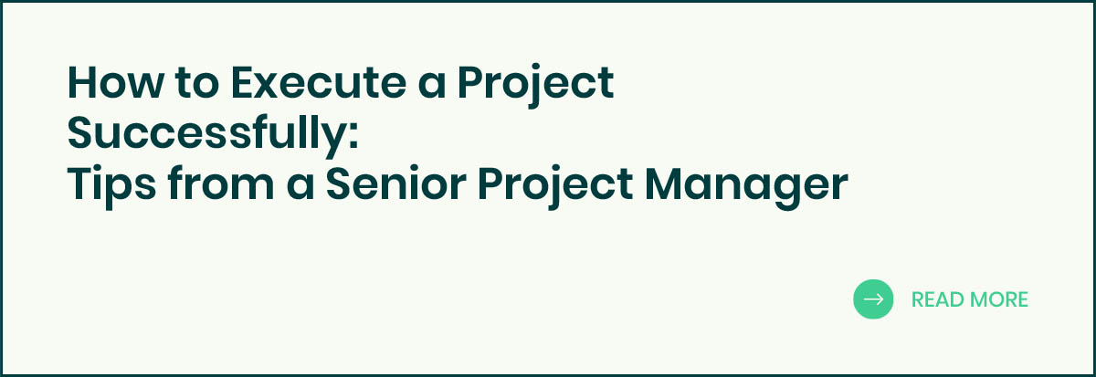 How to execute a project successfully banner