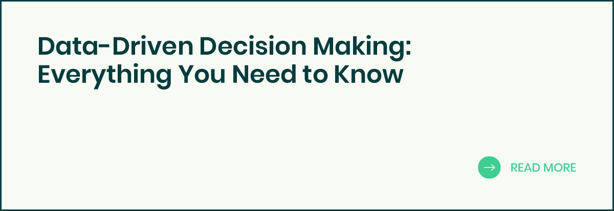 Data driven decision making banner