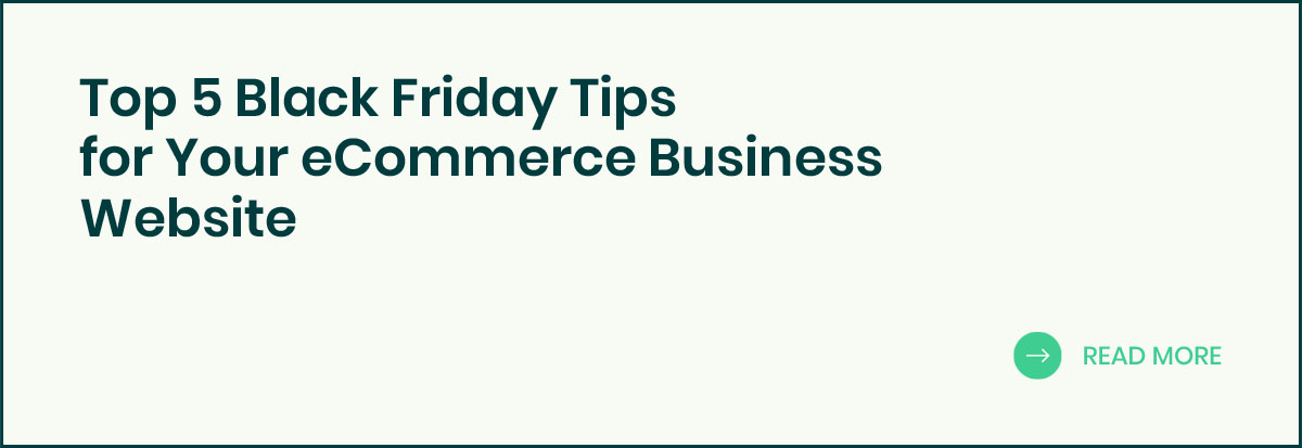 Top 5 Black Friday Tips for Your eCommerce Business Website banner