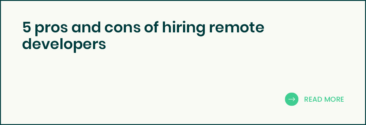 5 pros and cons of hiring remote developers banner